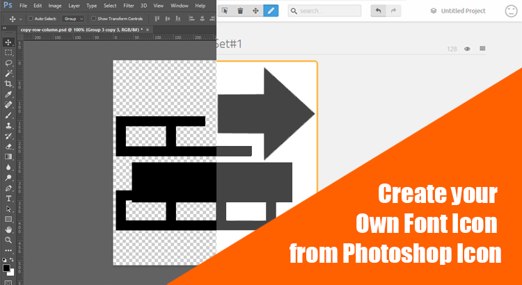 3 Steps to Create your Own Font Icon from Photoshop Icon