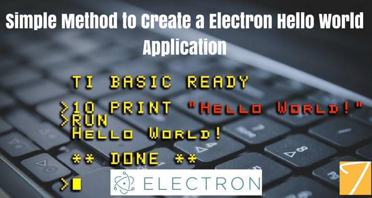 Simple Method to Create a Electron Hello World Application