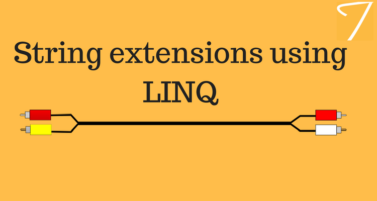String extensions using LINQ